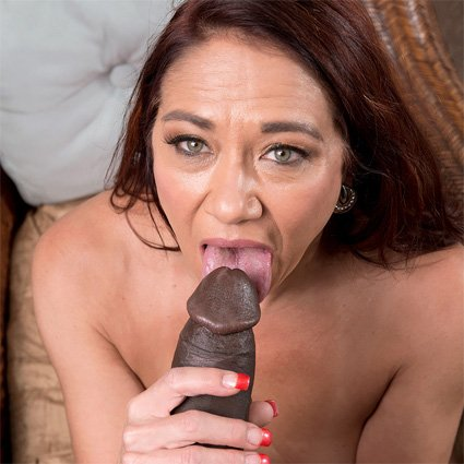 milf sucks black cock